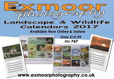 EXMOOR PHOTOGRAPHY CALENDAR ADVERT 2017